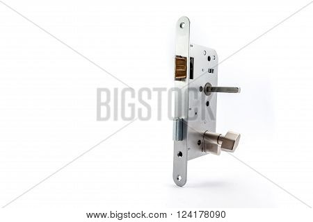 an security lock with cylinder and key door handle