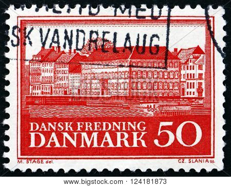 DENMARK - CIRCA 1966: a stamp printed in Denmark shows Poorhouse Copenhagen circa 1966