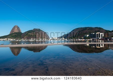 Sugarloaf Mountain, the landmark of Rio de Janeiro, Brazil