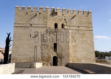 The Calahorra tower at the end of the Roman Bridge was built in late 12th century by the Almohads to protect the nearby bridge on the Guadalquivir River