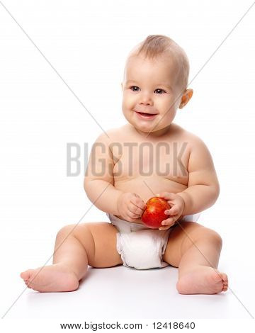 Little Child With Apple