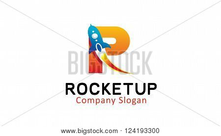 Rocket Up Creative And Symbolic Logo Design Illustration