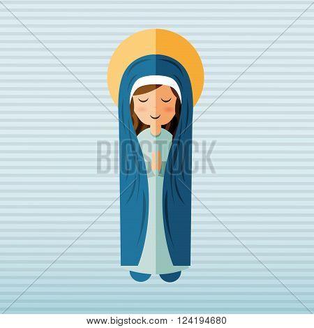 Blessed virgin design, vector illustration eps10 graphic
