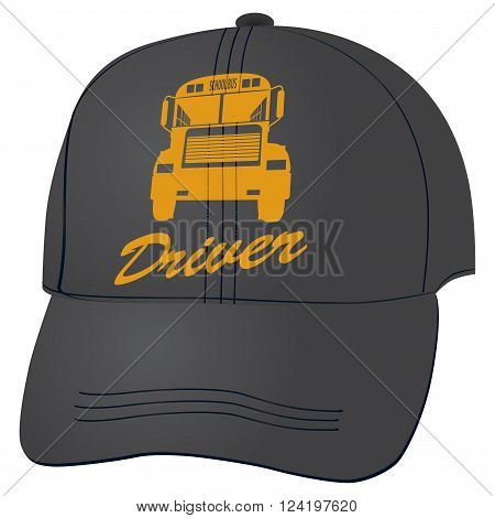 Cloth baseball cap for the school bus driver.