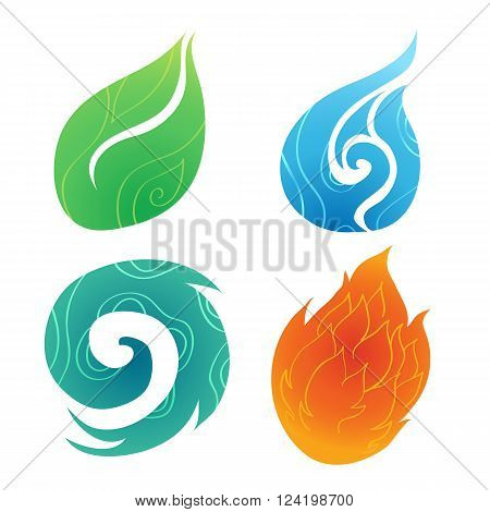 Four element of color , abstract natural element