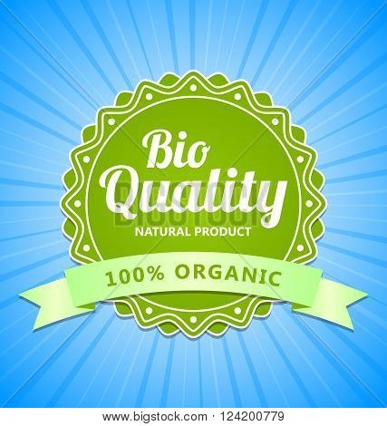 Green Bio Quality natural organic product label