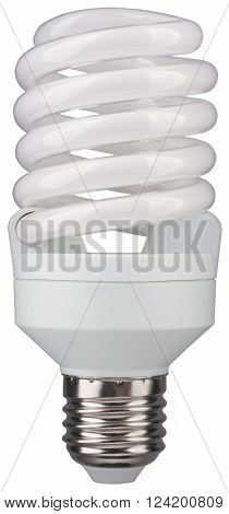 Fluorescent lamp. Object is isolated on white background without shadows.