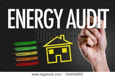 Hand writing the text: Energy Audit