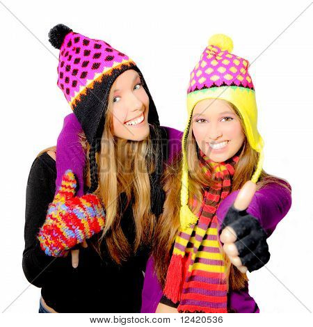 winter teens girls