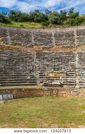 Ancient theatre ruins of ancient Nysa on the Maeander Aydin Province Turkey