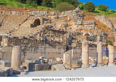 Ruins of ancient Ephesus Selcuk Izmir Province Turkey