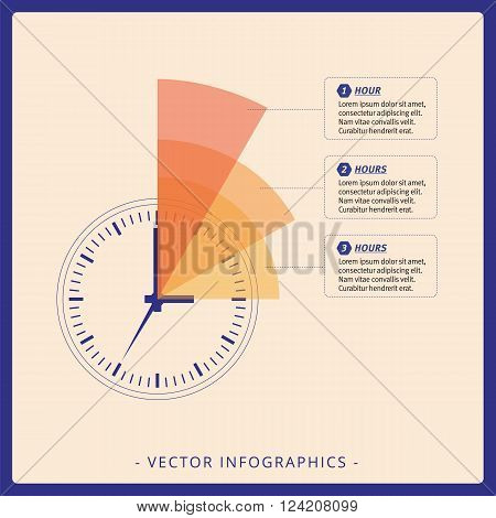Multicolored editable infographic template of dial chart on beige background