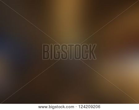 Abstract brown and flesh blurred background with blue spots texture in vector