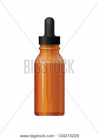 Isolated Medicine Bottle On White Background.