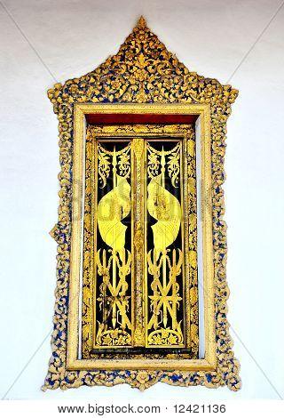 Golden Thai style window