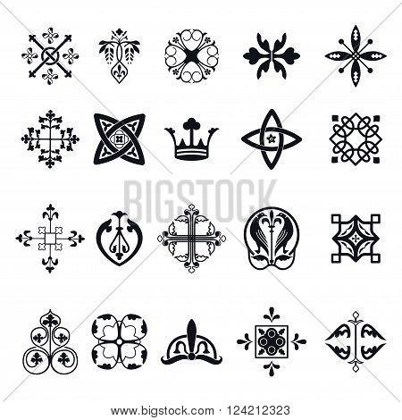 Vector Illustration of Moroccan tiles sign for Design, Website, Background, Banner.Spanish element for Wallpaper, Ceramic or Textile. Middle Ages Ornament Texture Template