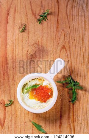 Baked Egg With Red Caviar