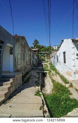 Urban Street Scene from Cuba Cayo Granma