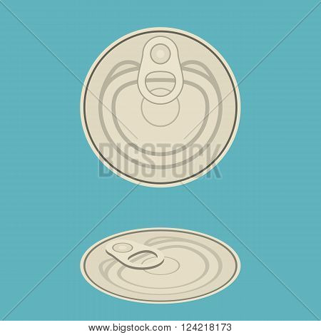 vector can lid ,flat design on clear background