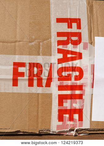 Fragile Sign On Box