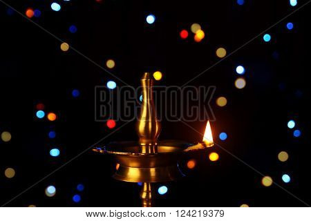 Indian Traditional with Oil Lamp and Light