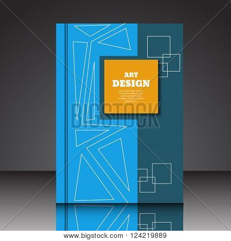 Abstract Geometric Composition A4  Brochure Title Sheet Eps10 Vector