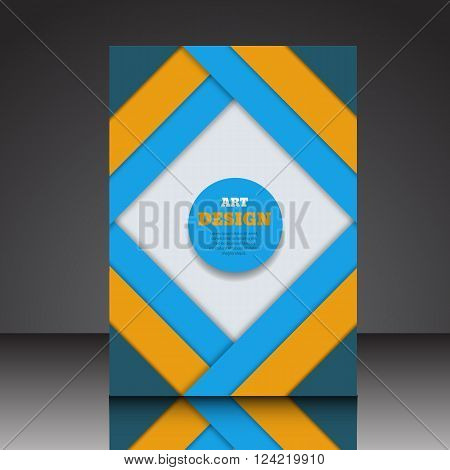 Abstract Line Composition A4  Brochure Title Sheet Eps10 Vector