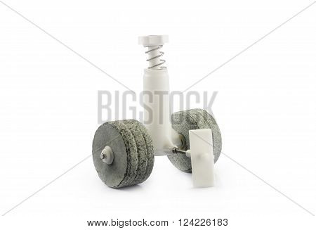 Indian Wet Grinder's Stones Isolated on White Background