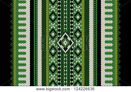 Green Themed Middle Eastern Traditional Carpet Fabric Texture