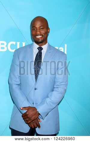 LOS ANGELES - APR 1:  Akbar Gbaja-Biamila at the NBC Universal Summer Press Day 2016 at the Four Seasons Hotel on April 1, 2016 in Westlake Village, CA