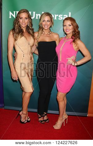 LOS ANGELES - APR 1:  Cary Deuber, Stephanie Hollman, Brandi Redmond at the NBC Universal Summer Press Day 2016 at the Four Seasons Hotel on April 1, 2016 in Westlake Village, CA