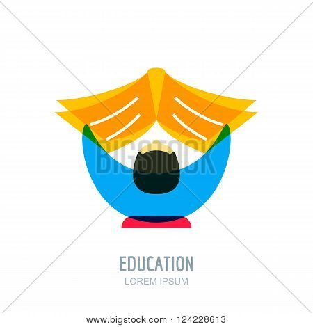Study And Education Vector Logo, Icon Design Template.