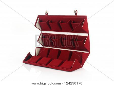 Ear Ring Box Isolated on White Background