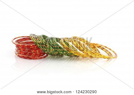 Indian Traditional Glass Material Wedding Colorful Bangles