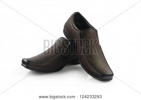 Men's Formal Shoes Isolated on White Background