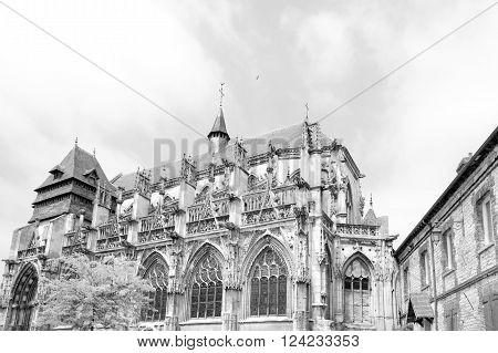 XVI century Church of Notre-Dame-des-Arts in Pont de l'Arche, Normandy