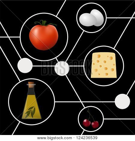 Abstract molecular gastronomy concept illustration. Structure. Vector illustration.