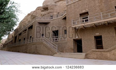 MoGao Caves is located at DunHuang, GanSu, China