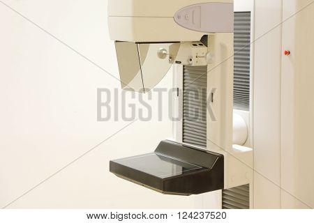 close up on mammography x ray machine