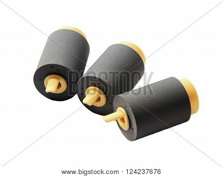 Rubber Feed Roll Isolated on White Background