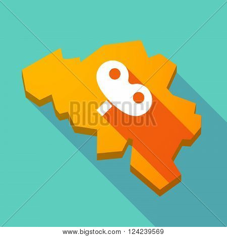 Long Shadow Map Of Belgium With A Toy Crank