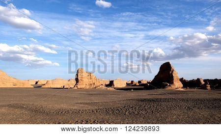 Yadan National Geological Park, also known as the evil's city, at DunHuang, GanSu, China