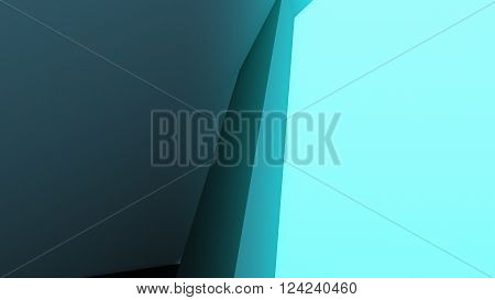 3D Illustration, colorful abstract composition made from a huge three-dimensional objects