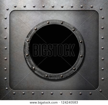 metal submarine or ship porthole window