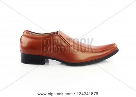 Indian made men's Formal Shoes Isolated on White