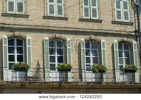 Salon-de-Provence (Bouches-du-Rhone Provence-Alpes-Cote-d'Azur France): facade of historic palace