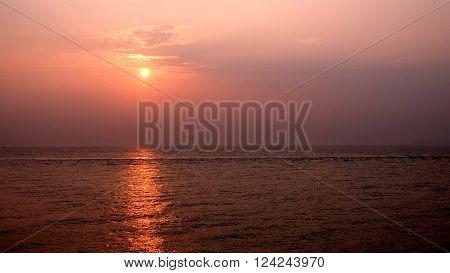 Sunset taken at YanTai, Shan Dong, China