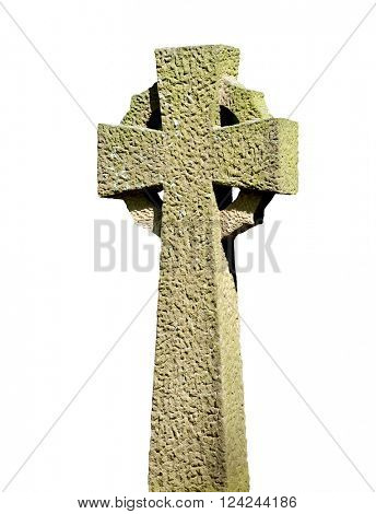 Isolated Celtic Cross with a white background.