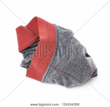 Crumpled male underpants isolated over the white background