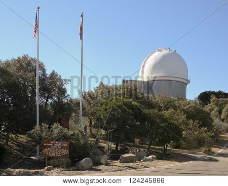 TUCSON, ARIZONA, FEBRUARY 28. Kitt Peak National Observatory on February 28, 2016, near Tucson, Arizona. A 2.1m telescope at Kitt Peak National Observatory near Tucson Arizona.